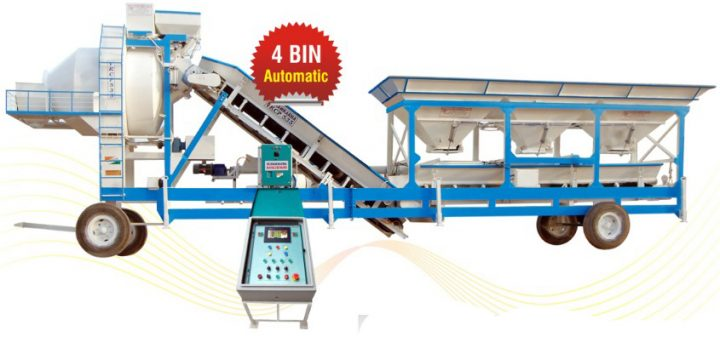 Mini stationery Mobile concrete batching plant