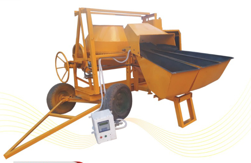 hopper mixer with digital web batcher