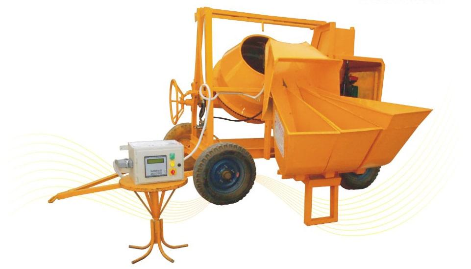 Concrete mixer with Digital Weigh Batcher